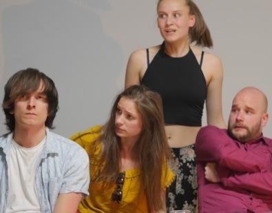 Fra venstre: Thomas Ottersen, Marie Hafnor, Anne Wiig, Jon Vegard Hovdal. (Foto: Rune Myrland)