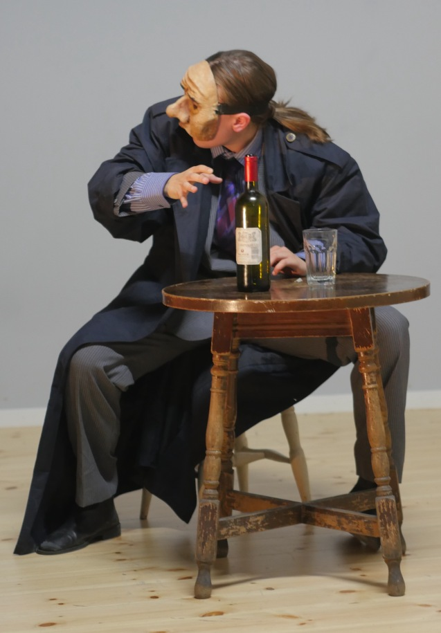 Marie Hafnor som Jens Bjørneboe. (Foto: Rune Myrland)